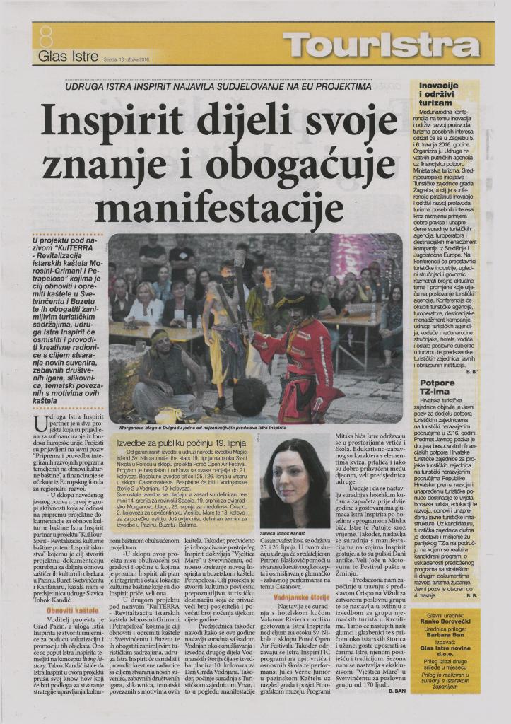 Glas Istre - Istra Inspirit 2016.